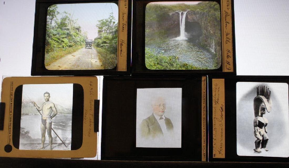 11 Lantern Slides - Hawaii some by William Rau - 2