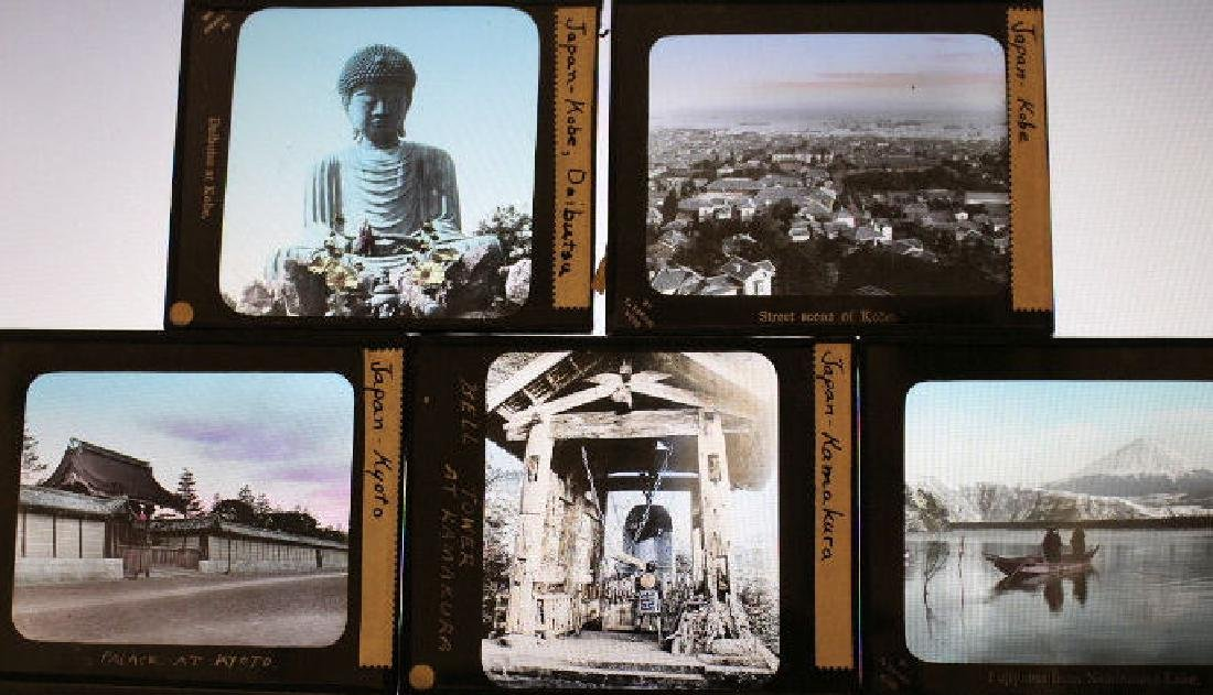21 Lantern Slides - Japan cities by T. Takagi - 3