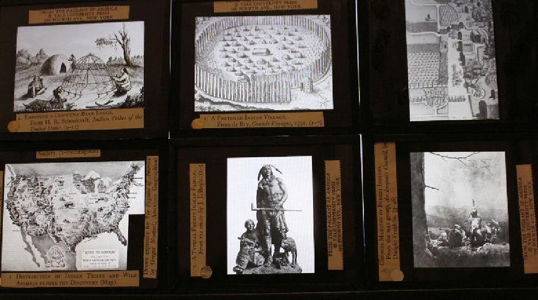 47 Lantern Slides - Story American Indians in Box