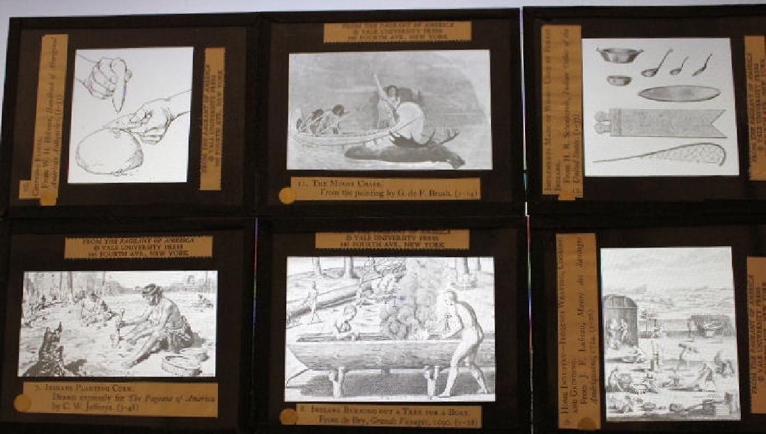 47 Lantern Slides - Story American Indians in Box - 2