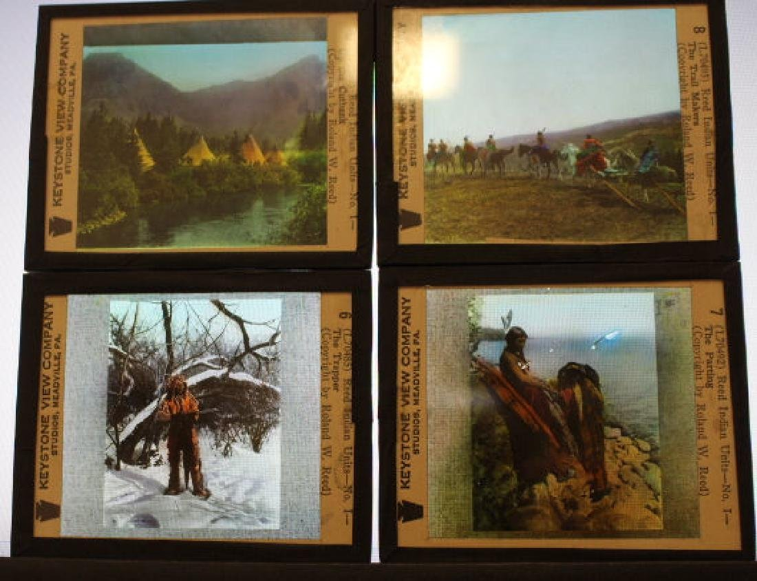 14 Lantern Slides - Indians, Roland W Reed