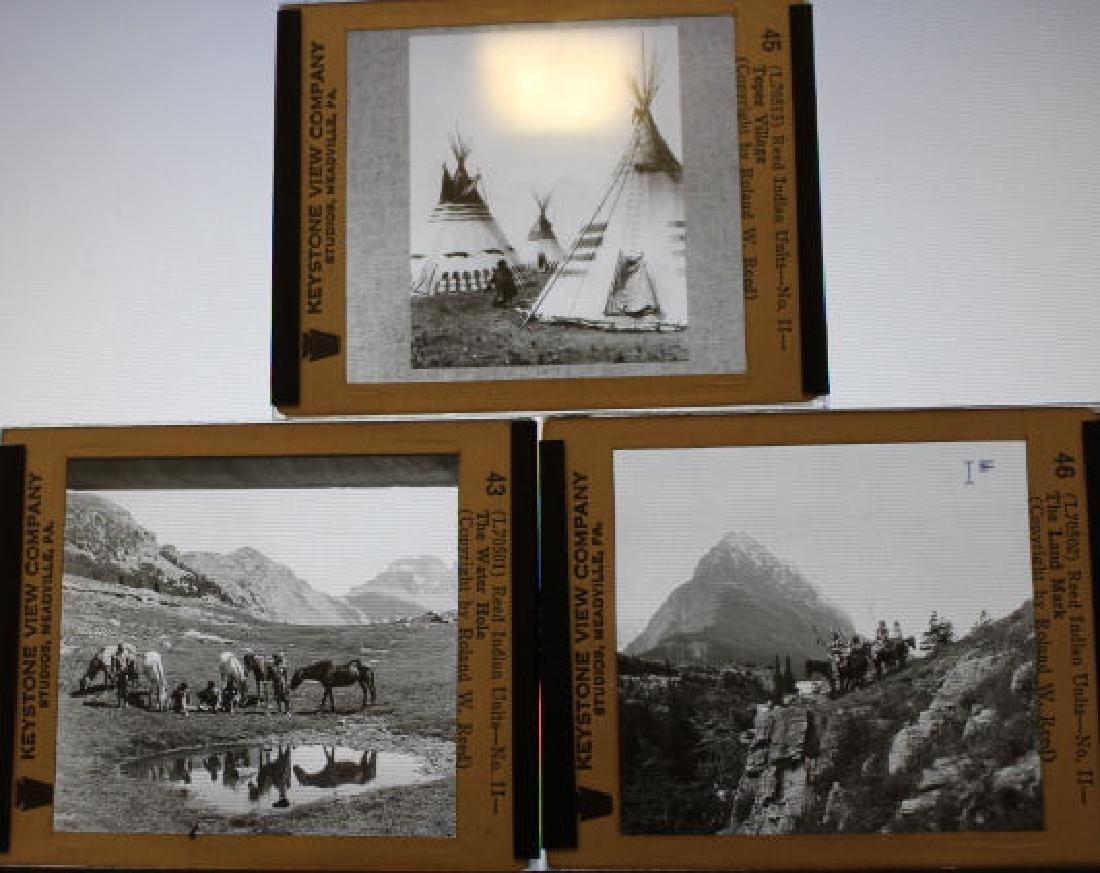 14 Lantern Slides - Indians, Roland W Reed - 2