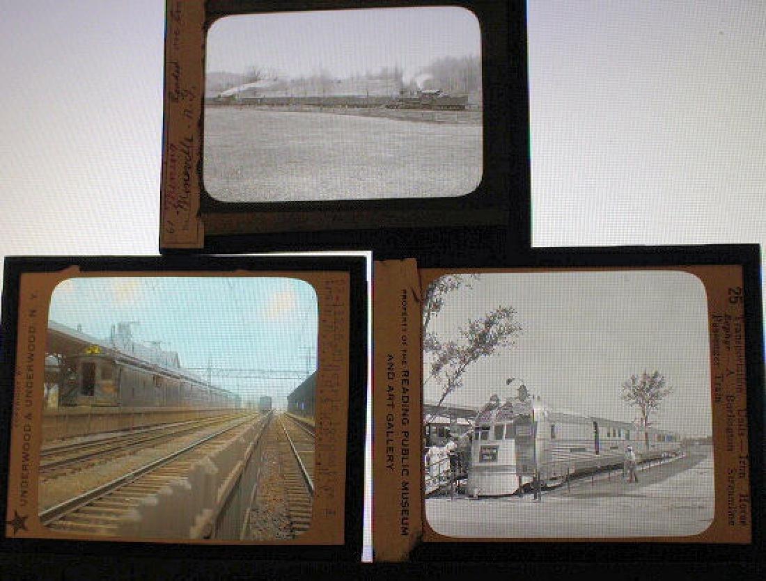 9 Lantern Slides - RR / Trains