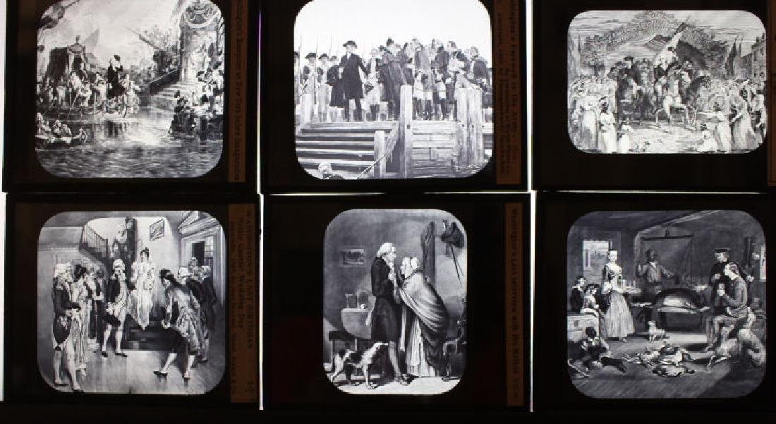 13 Lantern Slides - George Washington