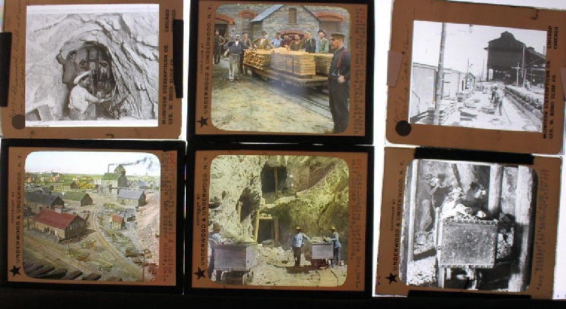16 Lantern Slides - Copper & Silver Mining