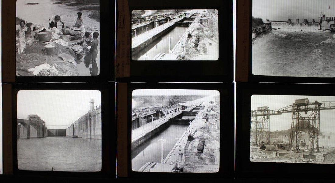 10 Lantern Slides - Panama William H Rau