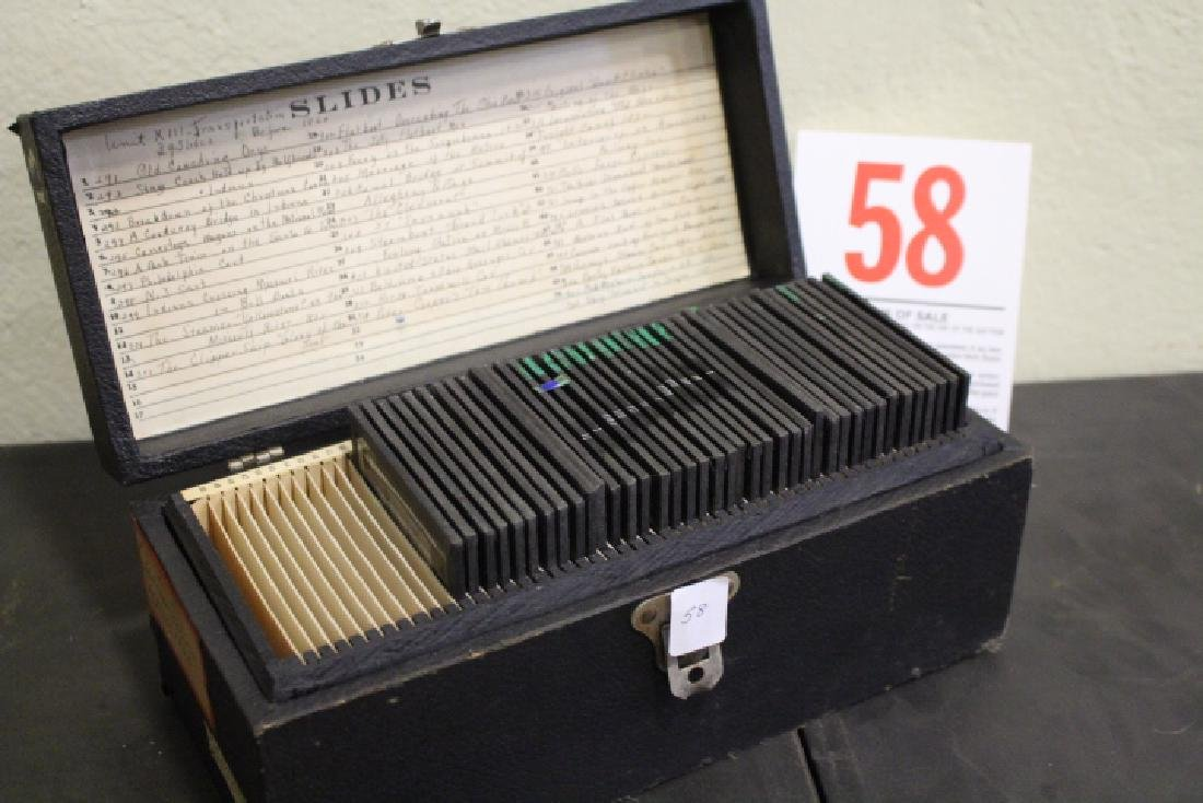 40 Lantern Slides - Transportation original box - 8