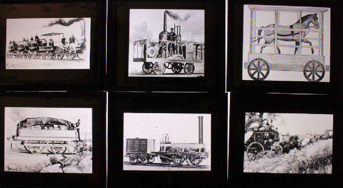 40 Lantern Slides - Transportation original box - 3