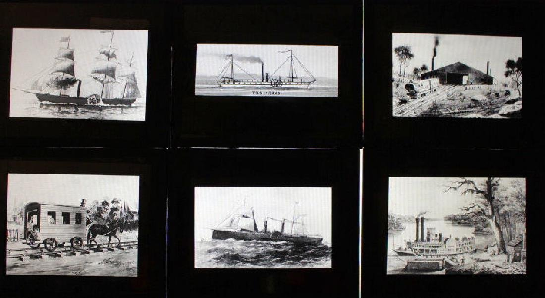 40 Lantern Slides - Transportation original box - 4