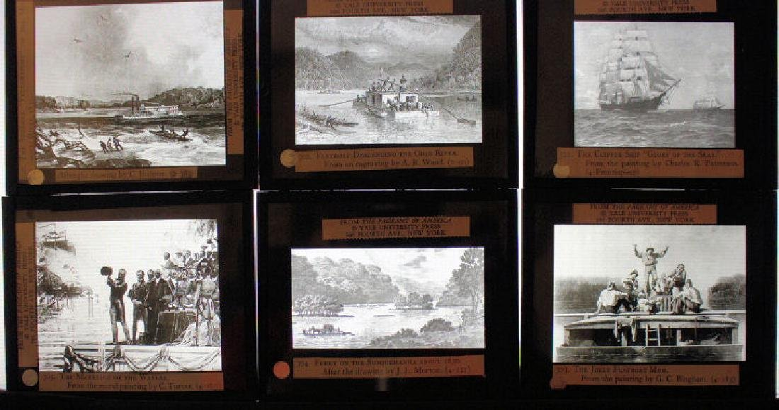 40 Lantern Slides - Transportation original box - 5
