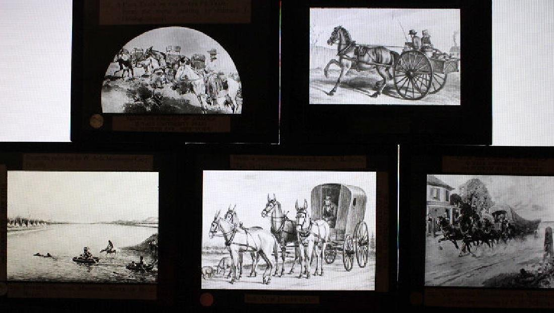 40 Lantern Slides - Transportation original box - 6