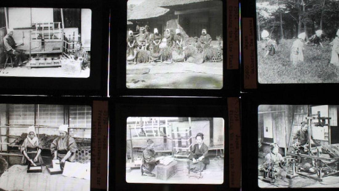 13 Lantern Slides - Japan by William H Rau