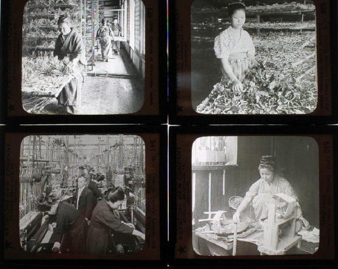 10 Lantern Slides - Japan silk work