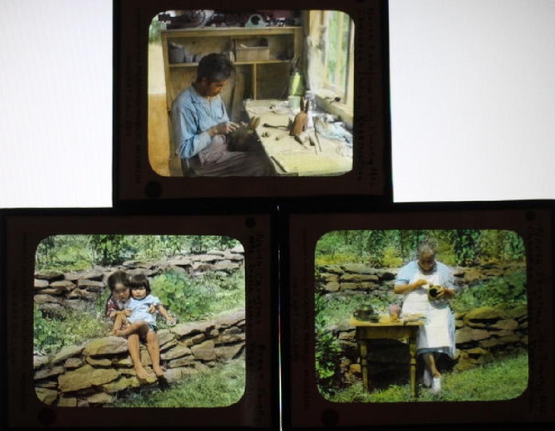 3 Lantern Slides - N Carolina Indian Reservations