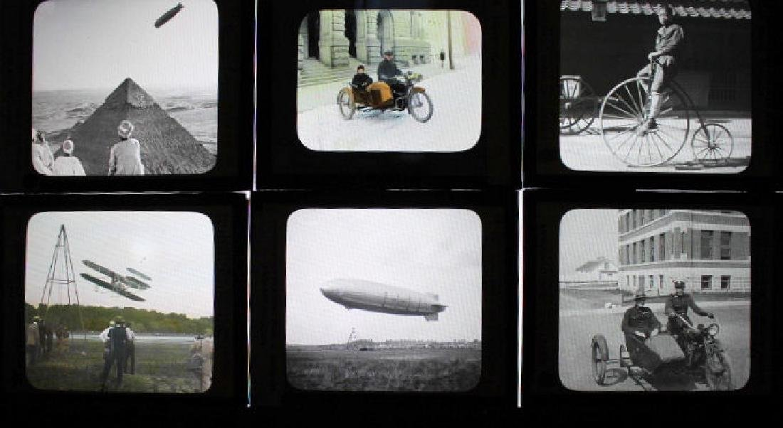 13 Lantern Slides - Transportation