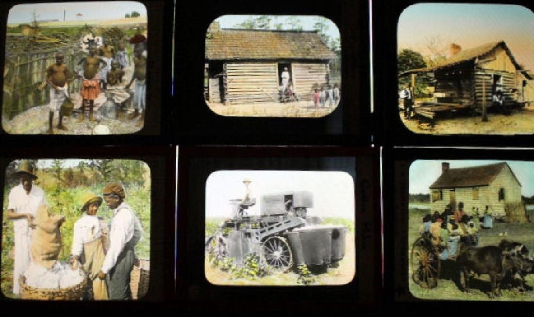 18 Lantern Slides - Cotton Industry, Pickers & More