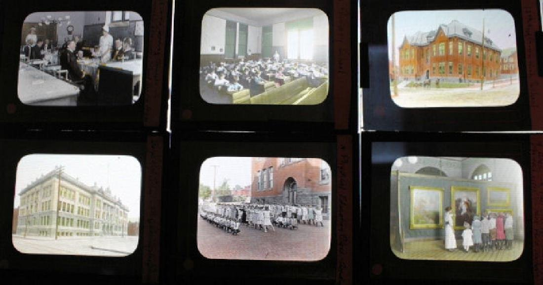 50 Lantern Slides - Reading PA Schools 1920s