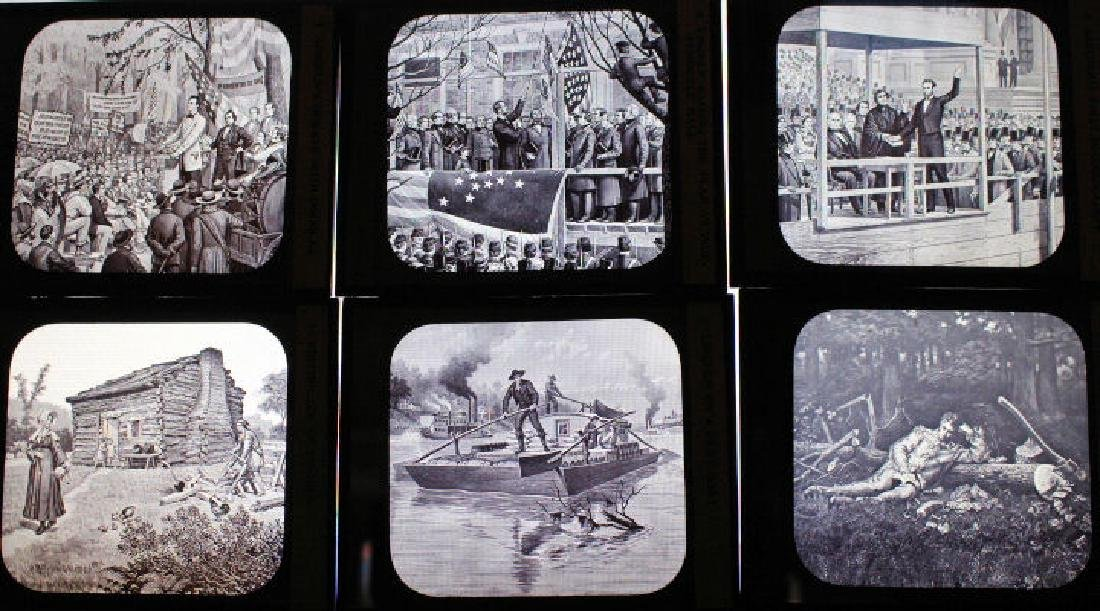 12 Lantern Slides - Abraham Lincoln Series