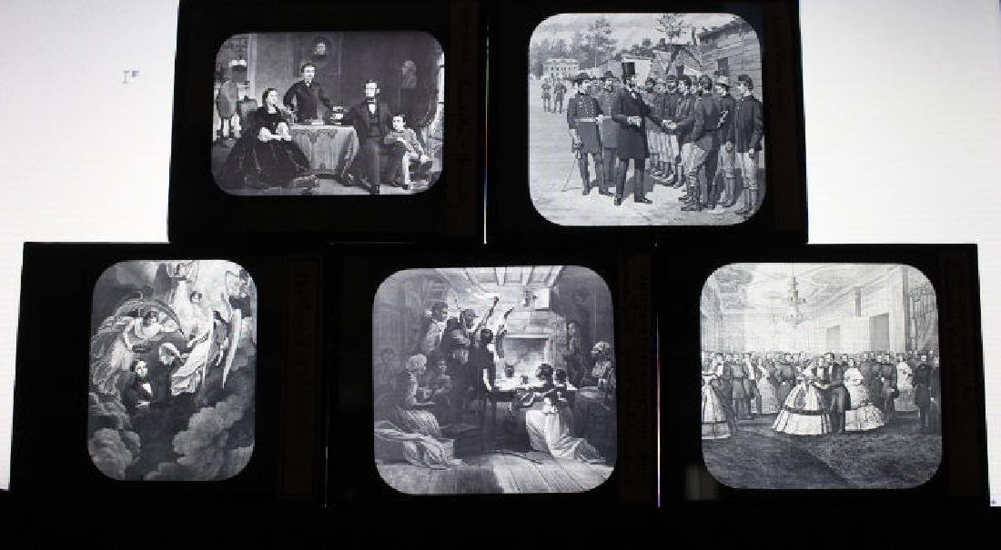 10 Lantern Slides - Abraham Lincoln