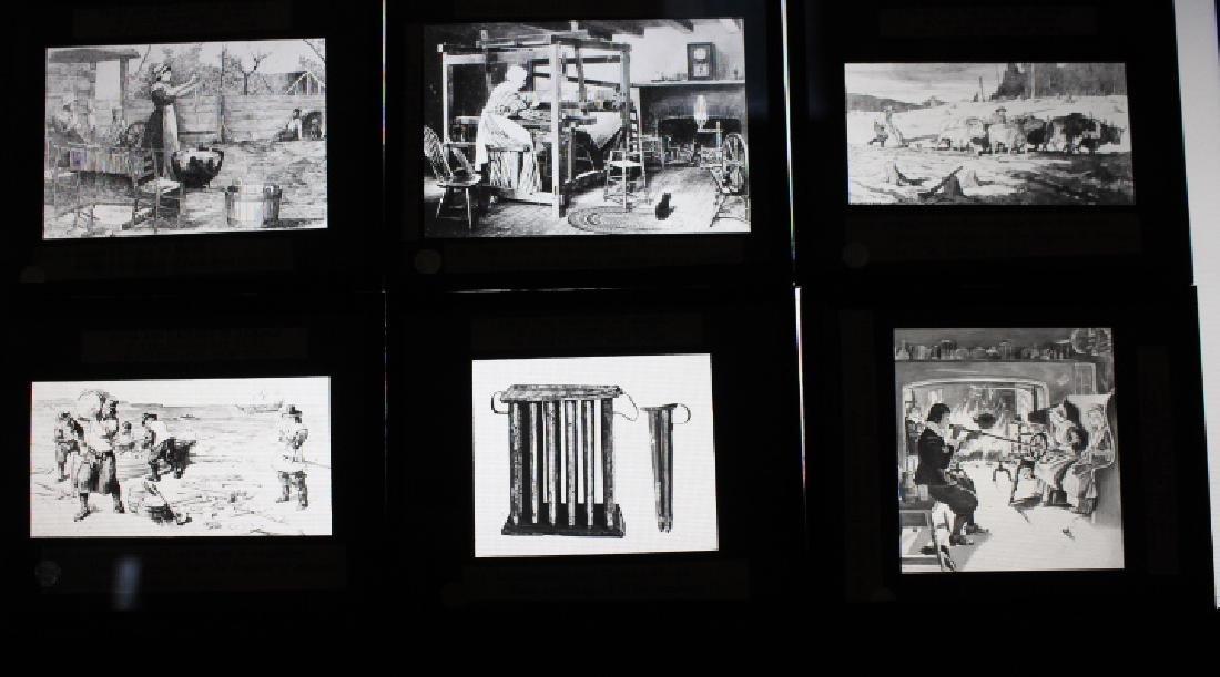 44 Lantern Slides - Colonial life original box - 2