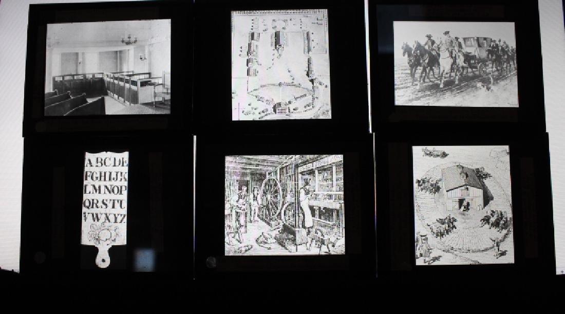 44 Lantern Slides - Colonial life original box - 3