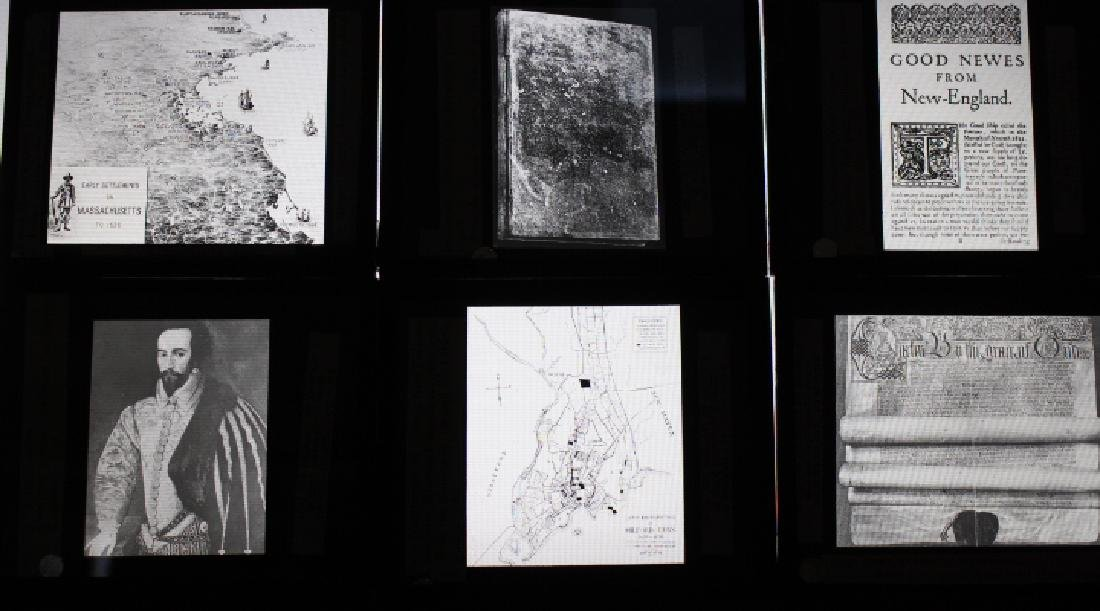 40 Lantern Slides - Colonial Times original box