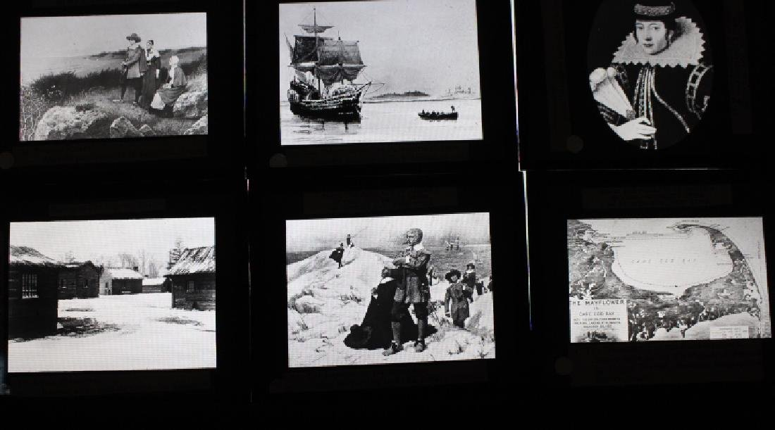 40 Lantern Slides - Colonial Times original box - 2