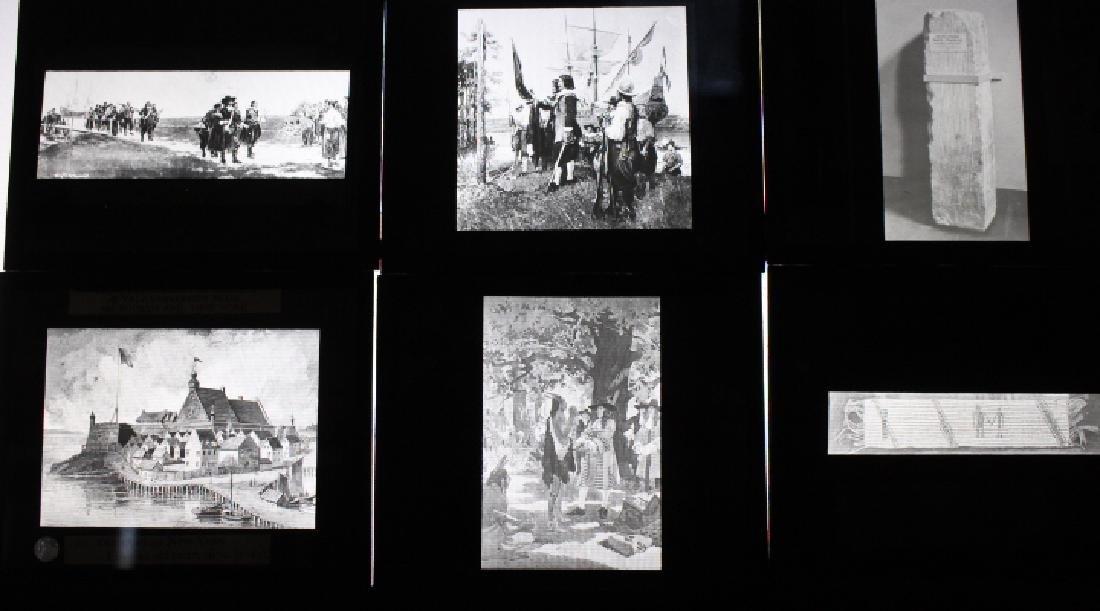 40 Lantern Slides - Colonial Times original box - 4