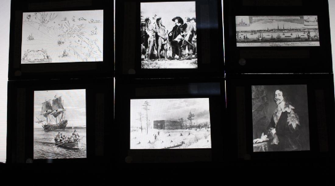 40 Lantern Slides - Colonial Times original box - 5