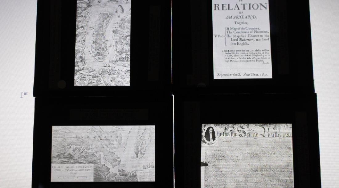 40 Lantern Slides - Colonial Times original box - 6