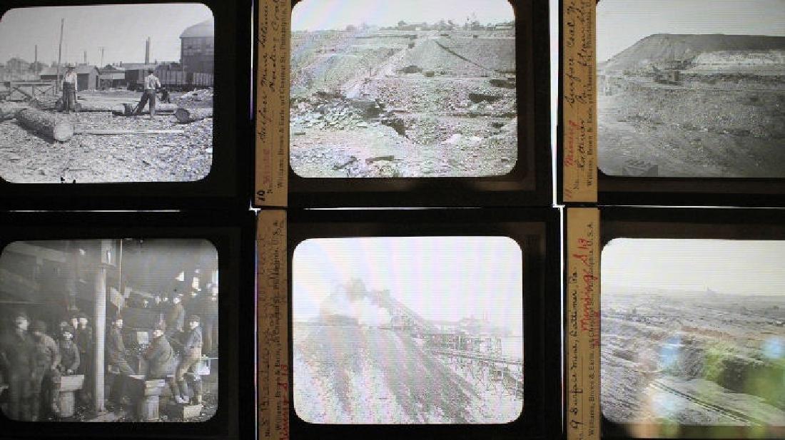 12 Lantern Slides - Coal Mining