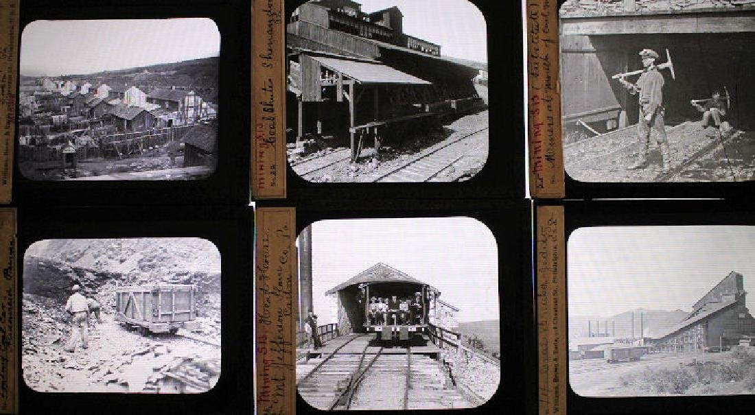 13 Lantern Slides - Penn Coal Mines