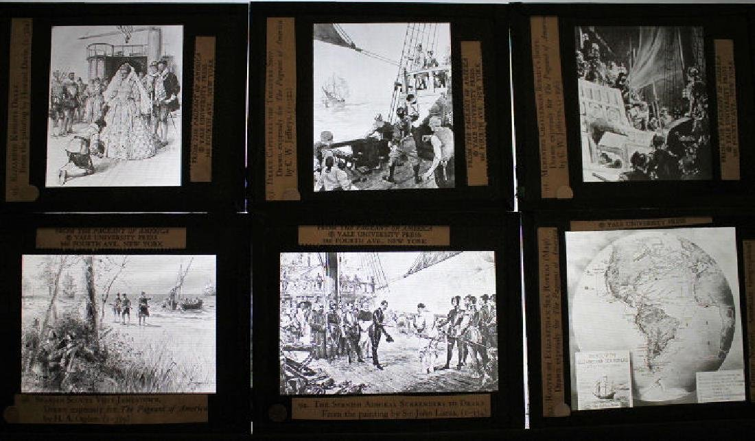 40 Lantern Slides Boxed Early Explorers Series