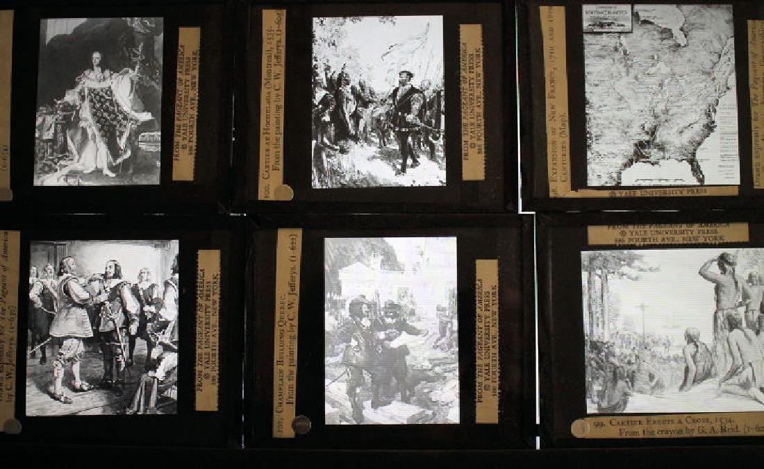 40 Lantern Slides Boxed Early Explorers Series - 2