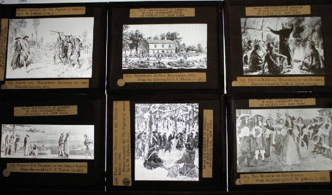 40 Lantern Slides Boxed Early Explorers Series - 3