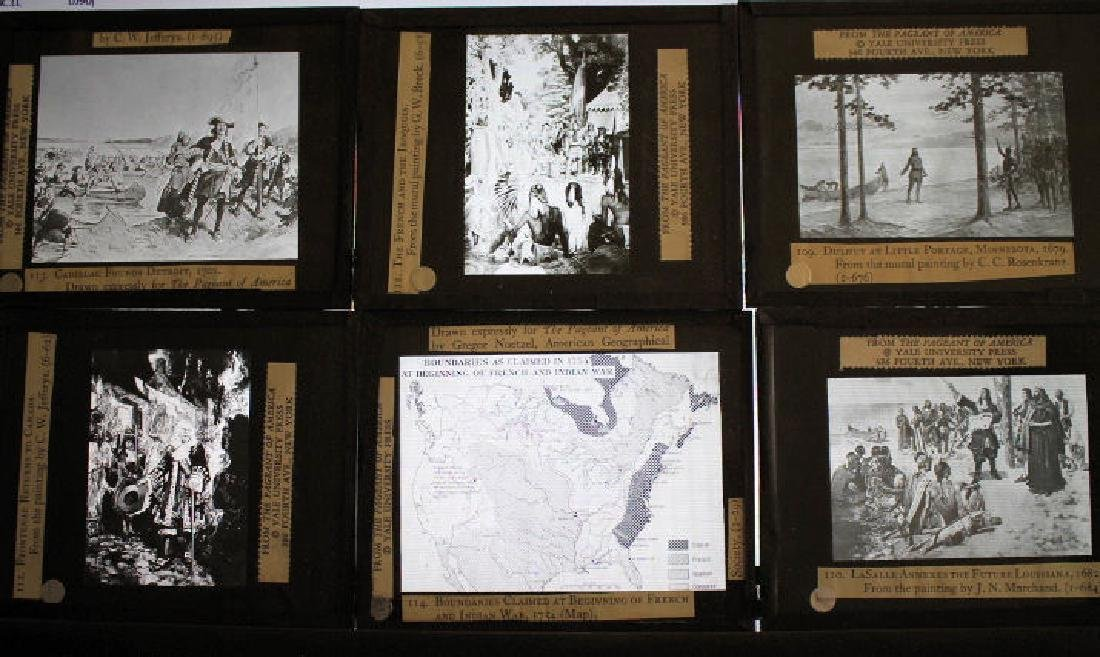 40 Lantern Slides Boxed Early Explorers Series - 4