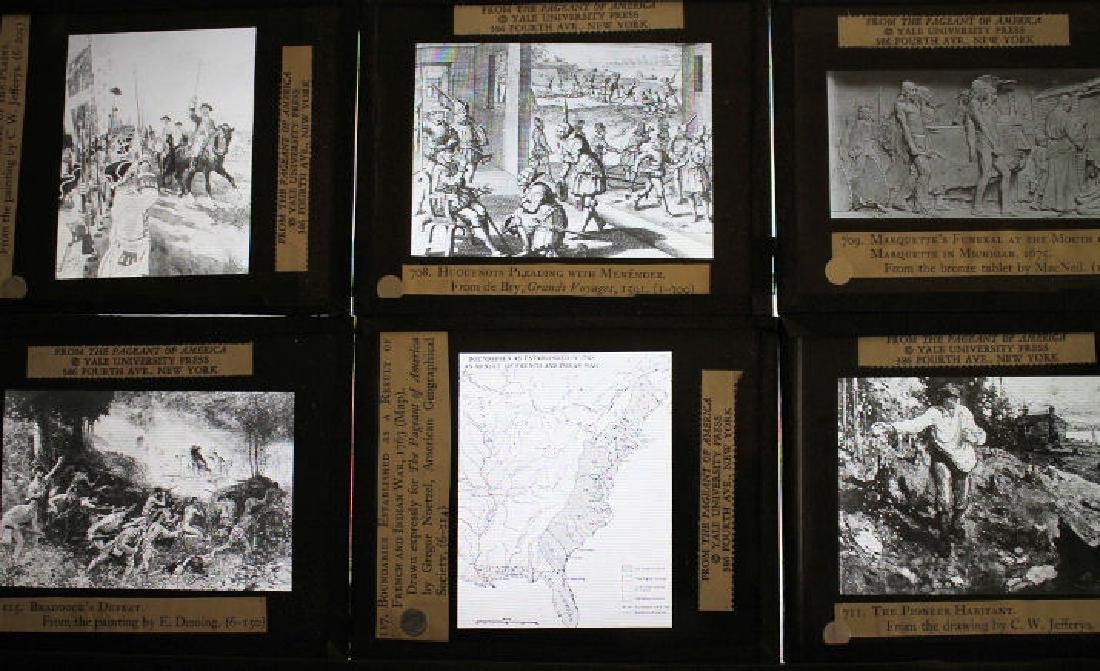 40 Lantern Slides Boxed Early Explorers Series - 5
