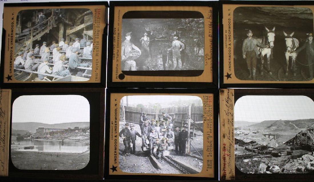 20 Lantern Slides - Penn Coal Mining