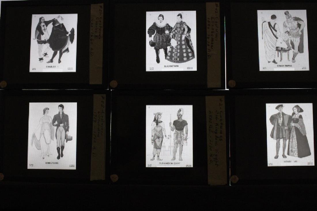24 Lantern Slides - Historical Period Costumes