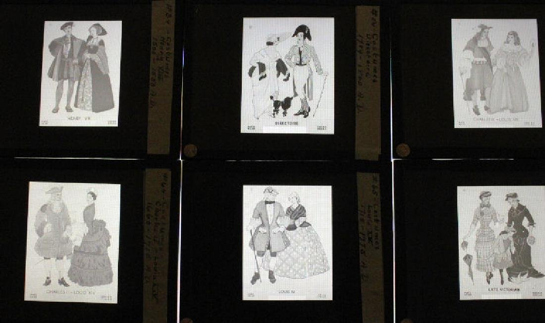 24 Lantern Slides - Historical Period Costumes - 2