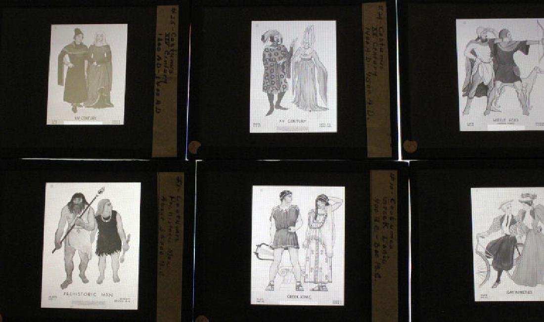 24 Lantern Slides - Historical Period Costumes - 3