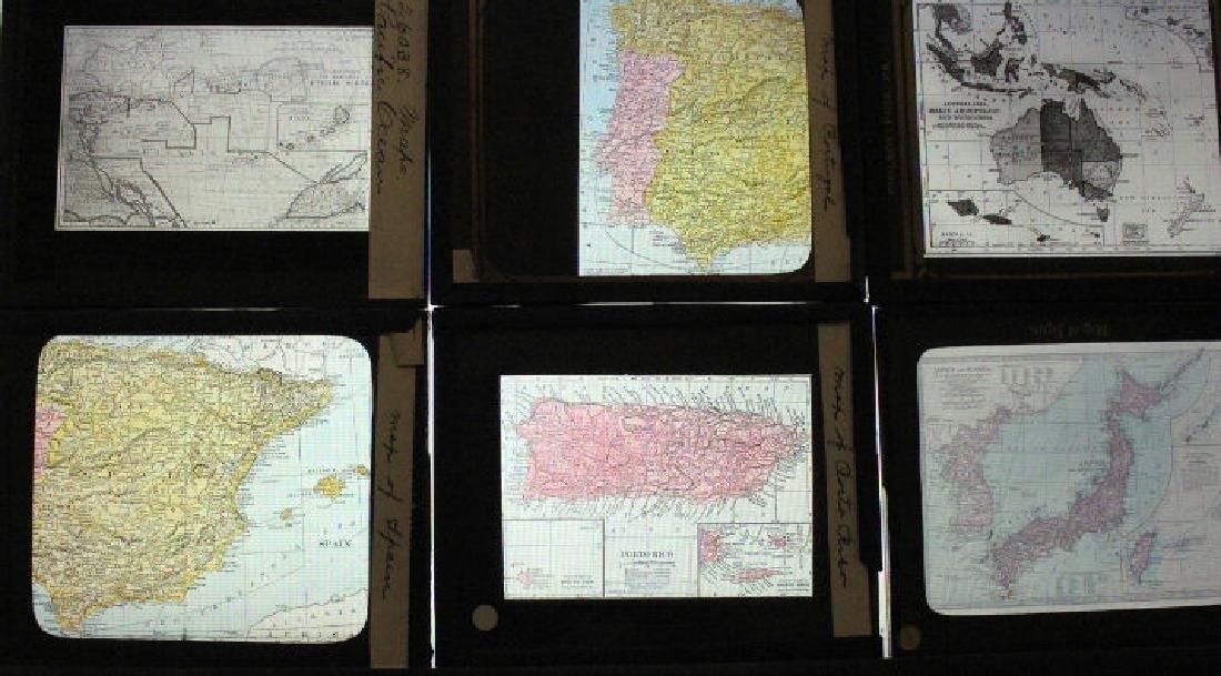 22 Lantern Slides - World Maps