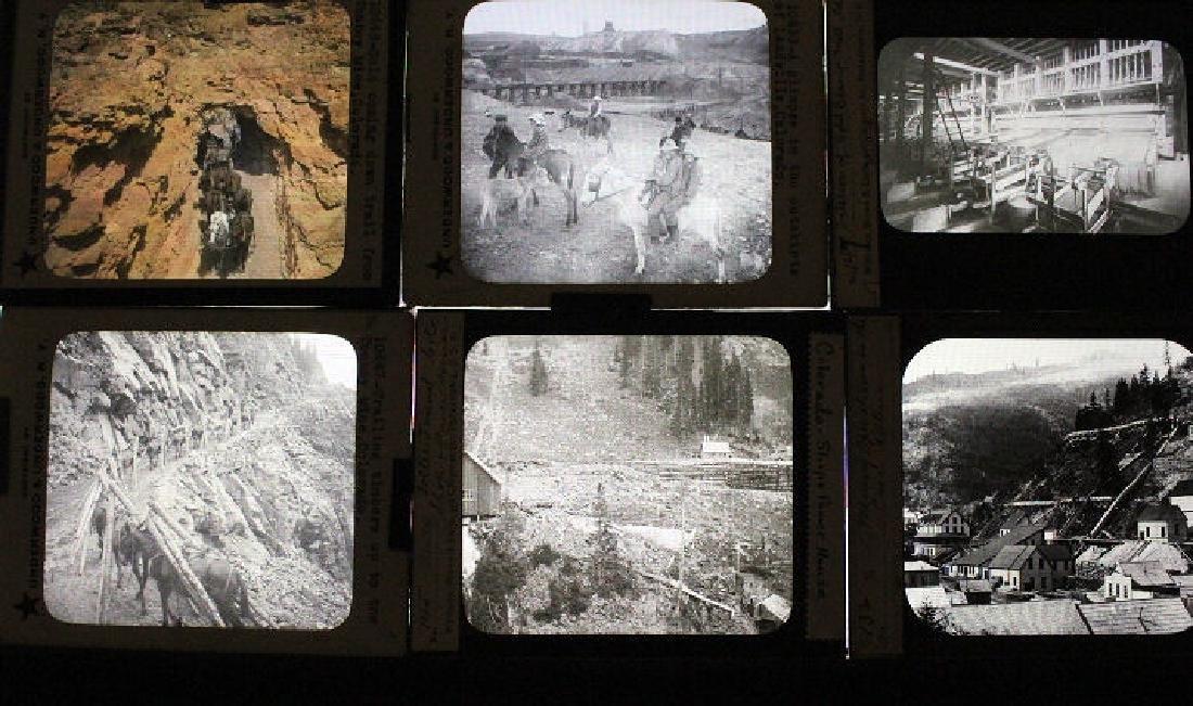 17 Lantern Slides - Colorado Gold & Silver Mining