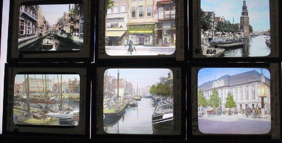 16 Lantern Slides - Rotterdam Holland