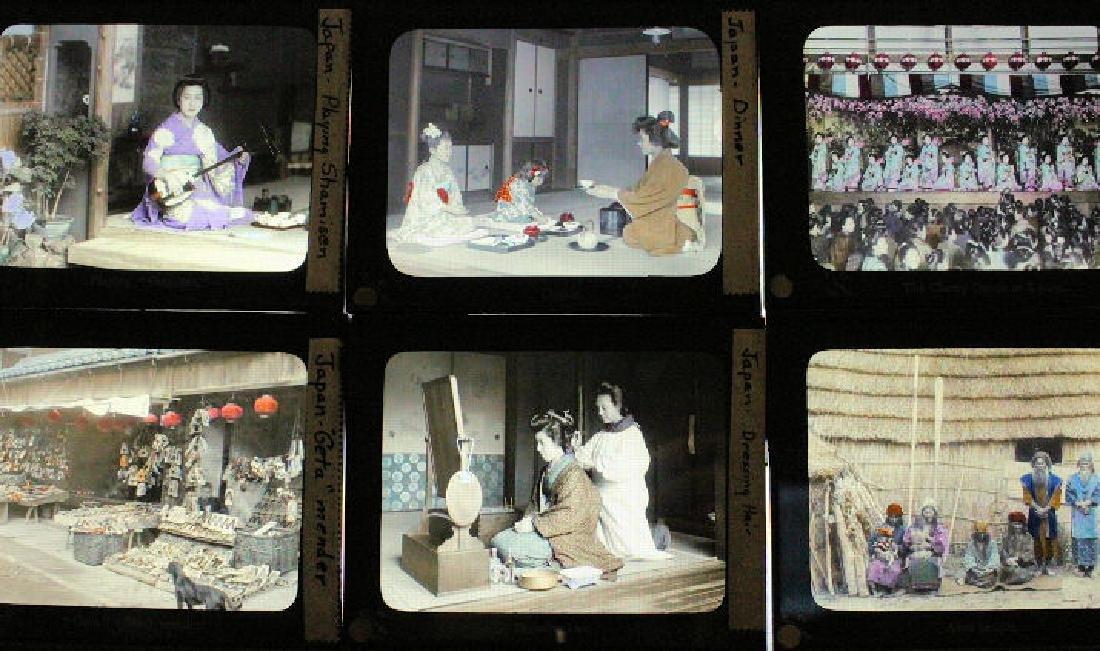 18 Lantern Slides - Japan's People by T. Takagi