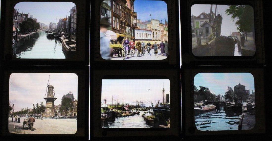 14 Lantern Slides - Rotterdam Holland
