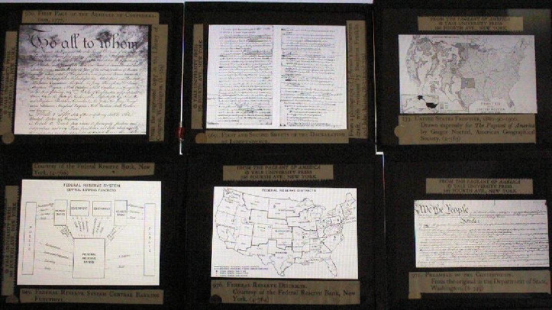 16 Lantern Slides Boxed Advancing Frontier Series - 2