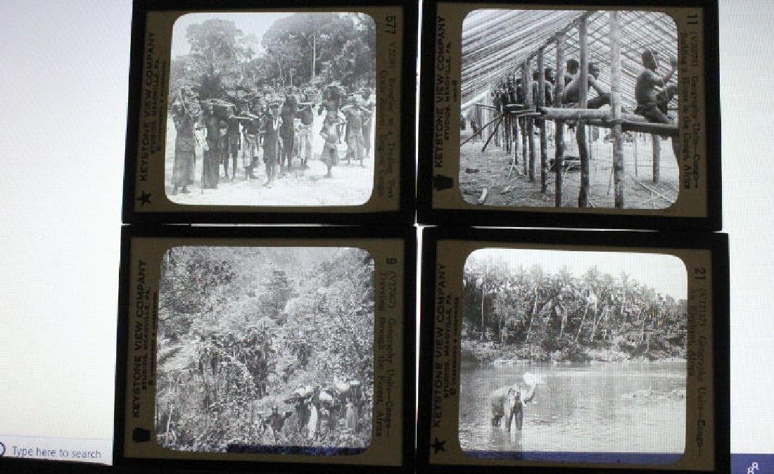 9 Lantern Slides - African Congo