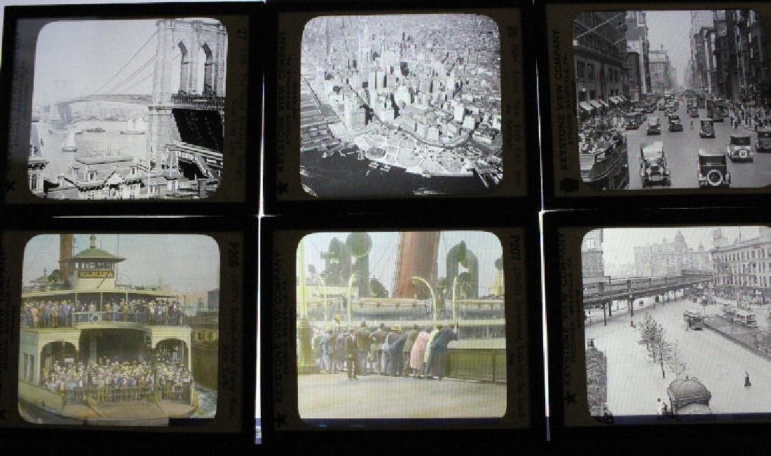 13 Lantern Slides - New York City NYC NY