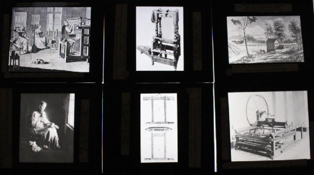 38 Lantern Slides - Boxed Series Story of Textiles